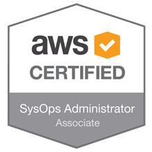 AWS Certified SysOps Administrator - Associate badge
